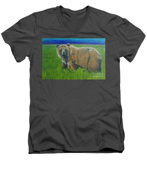 Big Brown Men's V-Neck T-Shirt