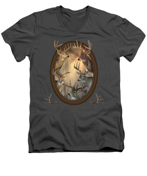Big Bucks Men's V-Neck T-Shirt