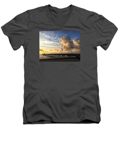 Big Cloud And The Pier, Men's V-Neck T-Shirt