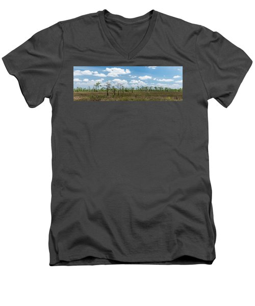 Men's V-Neck T-Shirt featuring the photograph Big Cypress Marshes by Jon Glaser
