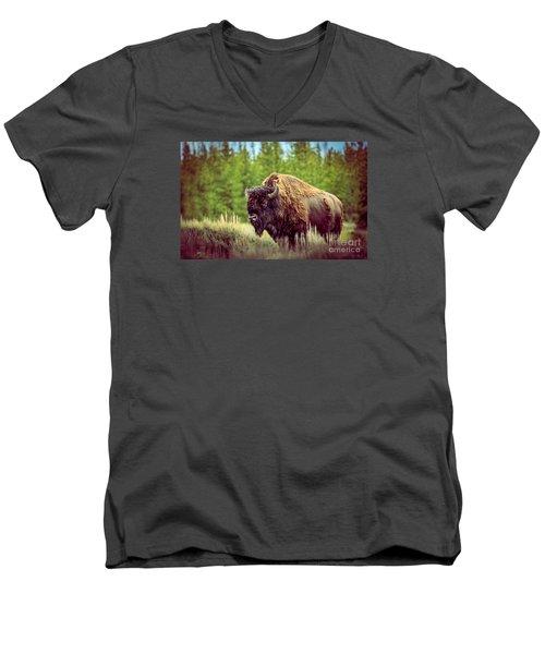 Big Daddy Men's V-Neck T-Shirt by Robert Bales