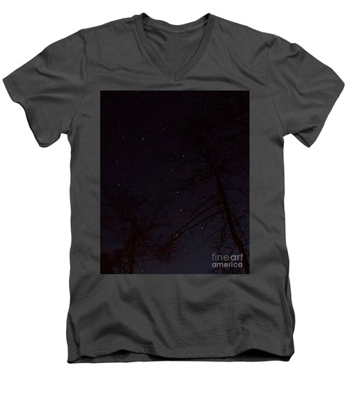 Big Dipper Men's V-Neck T-Shirt by Barbara Bowen