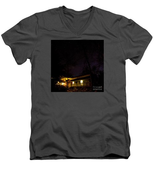 Big Dipper Over Hike Inn Men's V-Neck T-Shirt by Barbara Bowen