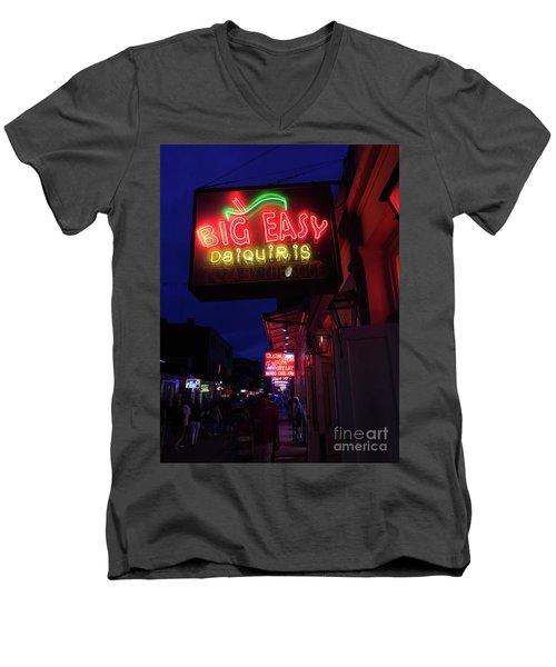 Big Easy Sign Men's V-Neck T-Shirt