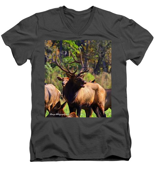 Big Elk Men's V-Neck T-Shirt