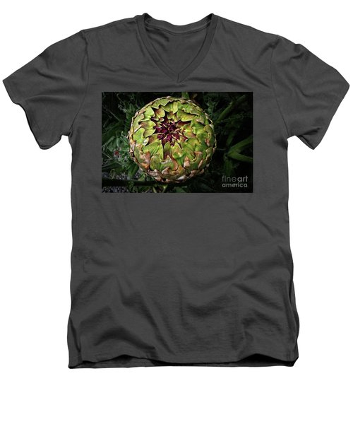Big Fat Green Artichoke Men's V-Neck T-Shirt
