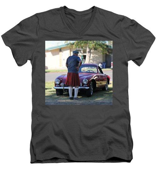 Big Man Little Car Men's V-Neck T-Shirt