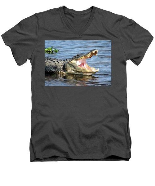 Big Mouth Men's V-Neck T-Shirt by Rosalie Scanlon