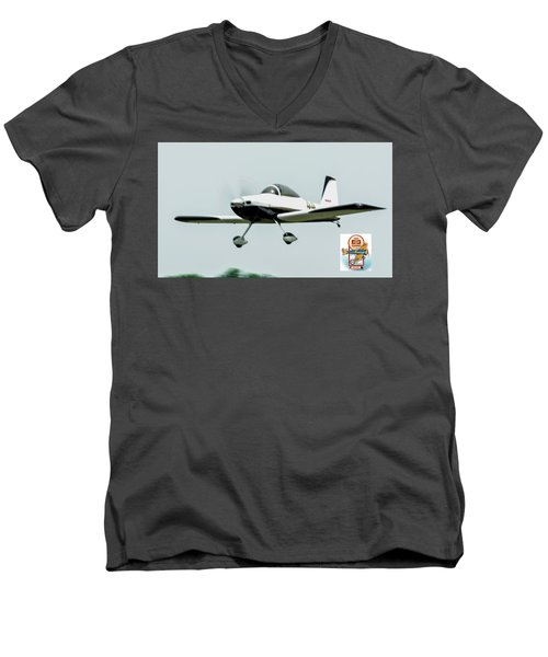 Big Muddy Air Race Number 44 Men's V-Neck T-Shirt