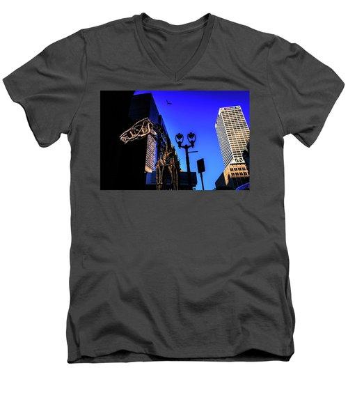Big Piney Sculpture In Downtown Milwaukee Men's V-Neck T-Shirt
