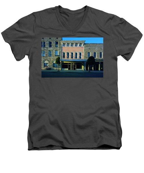 Big Pink, Corinth Men's V-Neck T-Shirt by Jan W Faul