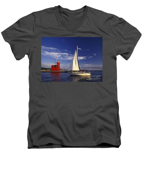 Big Red - Fm000060 Men's V-Neck T-Shirt