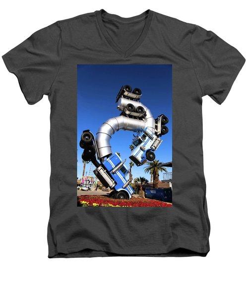 Big Rig Jig Balancing In Vegas Men's V-Neck T-Shirt