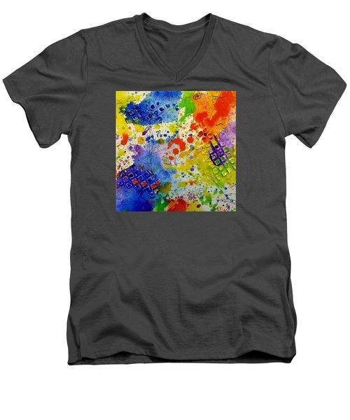 Big Risk, Big Life Men's V-Neck T-Shirt by Tracy Bonin