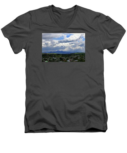 Big Sky Over Oamaru Town Men's V-Neck T-Shirt