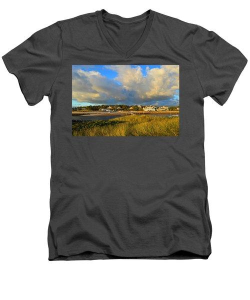 Big Sky Over Sesuit Harbor Men's V-Neck T-Shirt