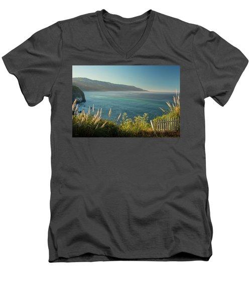 Big Sur At Lucia, Ca Men's V-Neck T-Shirt