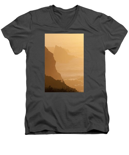 Big Sur Sunset Men's V-Neck T-Shirt