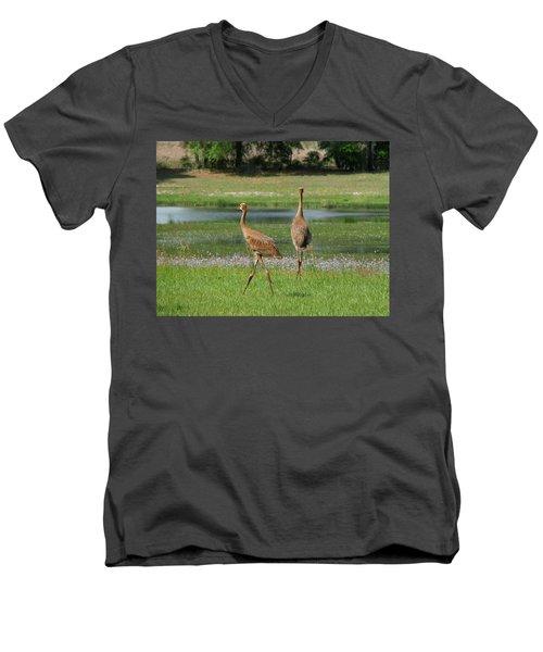 Big World Men's V-Neck T-Shirt