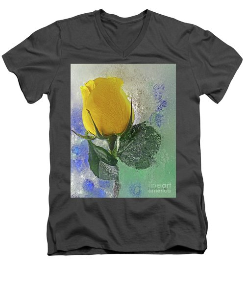 Big Yellow Men's V-Neck T-Shirt by Terry Foster