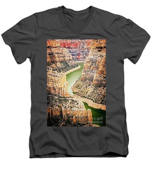 Bighorn River Men's V-Neck T-Shirt