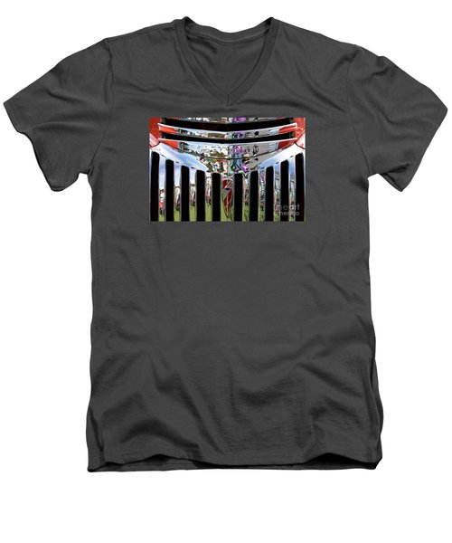 Chevrolet Grille 02 Men's V-Neck T-Shirt by Rick Piper Photography