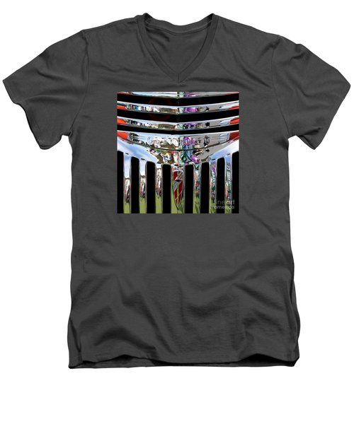 Chevrolet Grille 03 Men's V-Neck T-Shirt by Rick Piper Photography