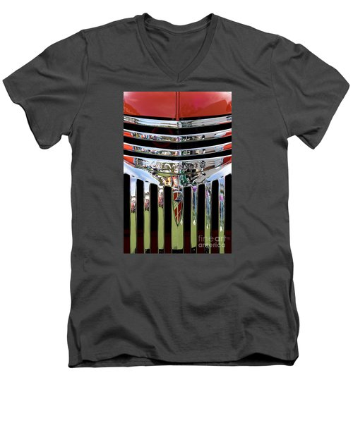 Chevrolet Grille 04 Men's V-Neck T-Shirt by Rick Piper Photography