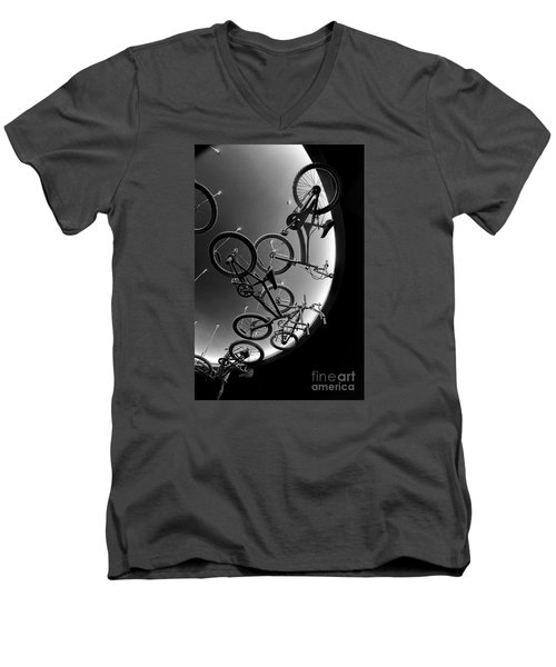 Men's V-Neck T-Shirt featuring the photograph Bike Dreams by Trey Foerster