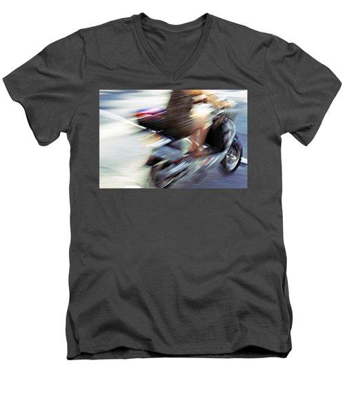 Bike In Motion Men's V-Neck T-Shirt
