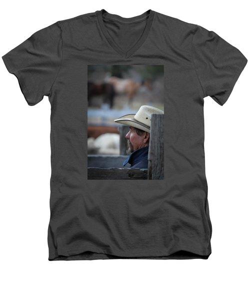 Bill Men's V-Neck T-Shirt by Diane Bohna