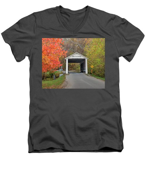 Billie Creek Covered Bridge Men's V-Neck T-Shirt