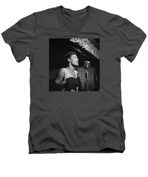Billie Holiday William Gottlieb Photo New York City 1947 Men's V-Neck T-Shirt