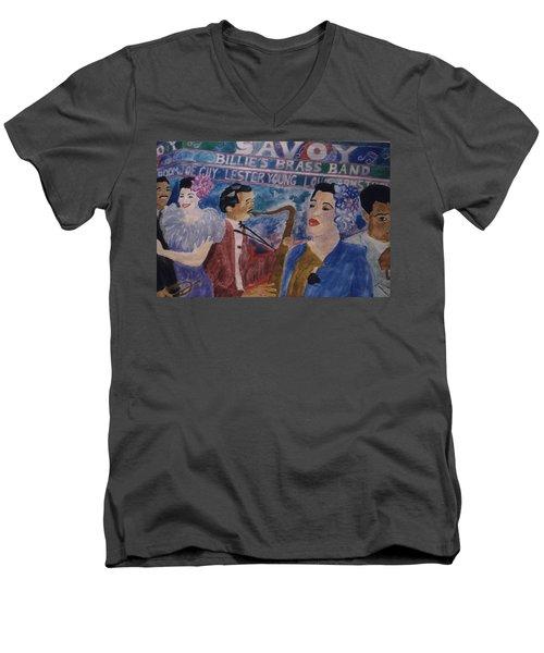 Billie's Brass Band Men's V-Neck T-Shirt