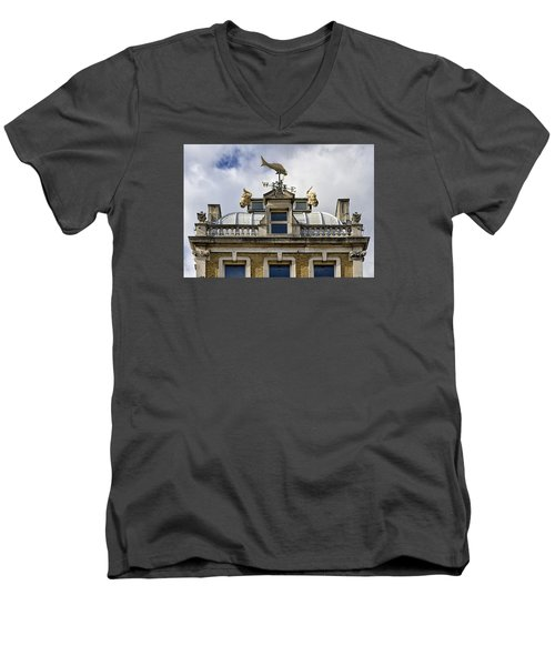 Men's V-Neck T-Shirt featuring the photograph Billingsgate Fish Market London by Shirley Mitchell