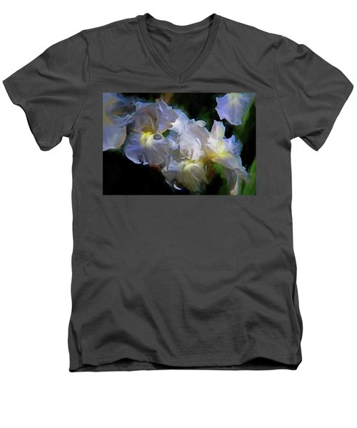 Billowing Irises Men's V-Neck T-Shirt