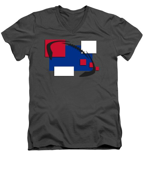 Bills Abstract Shirt Men's V-Neck T-Shirt by Joe Hamilton