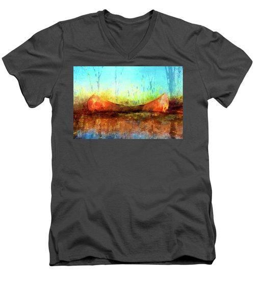 Birch Bark Canoe Men's V-Neck T-Shirt