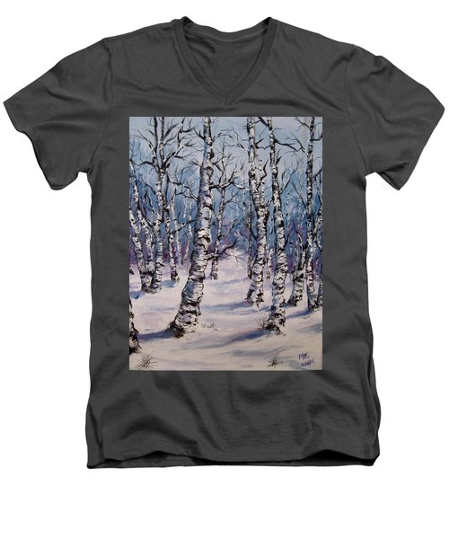 Birch Forest  Men's V-Neck T-Shirt