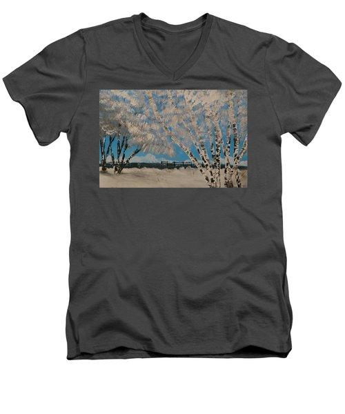 Birch Snow Men's V-Neck T-Shirt