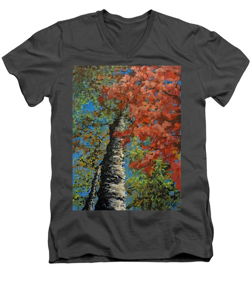 Birch Tree - Minister's Island Men's V-Neck T-Shirt
