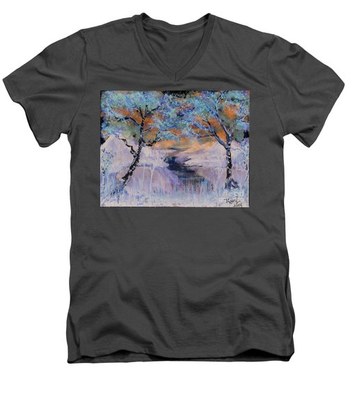 Birch Trees On The Ridge 2 Men's V-Neck T-Shirt