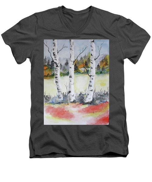 Birches Men's V-Neck T-Shirt