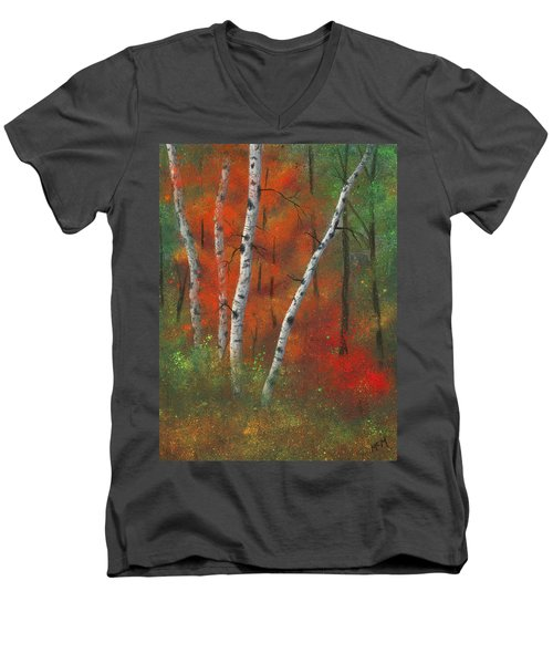 Birches II Men's V-Neck T-Shirt