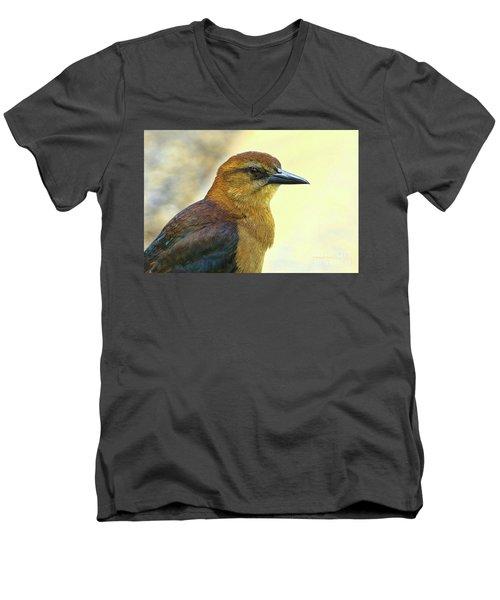Men's V-Neck T-Shirt featuring the photograph Bird Beauty by Deborah Benoit