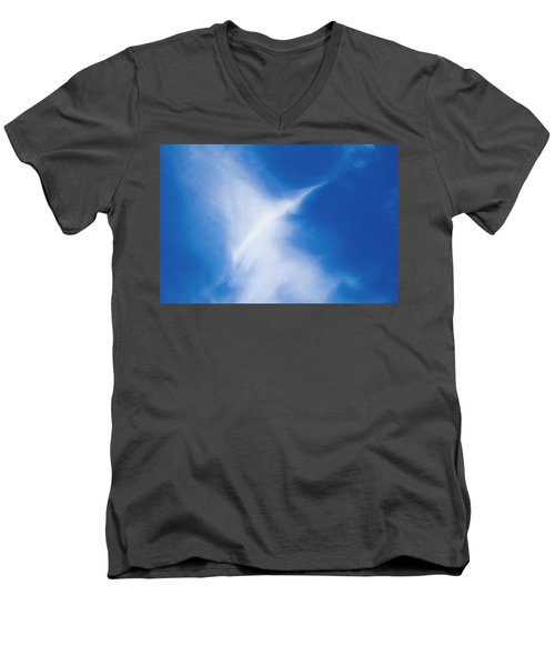 Men's V-Neck T-Shirt featuring the photograph Bird Cloud by Yulia Kazansky