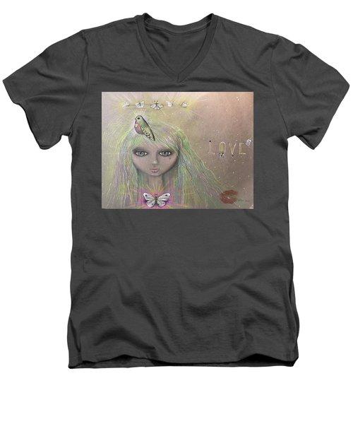 Bird From Spirit World  Men's V-Neck T-Shirt