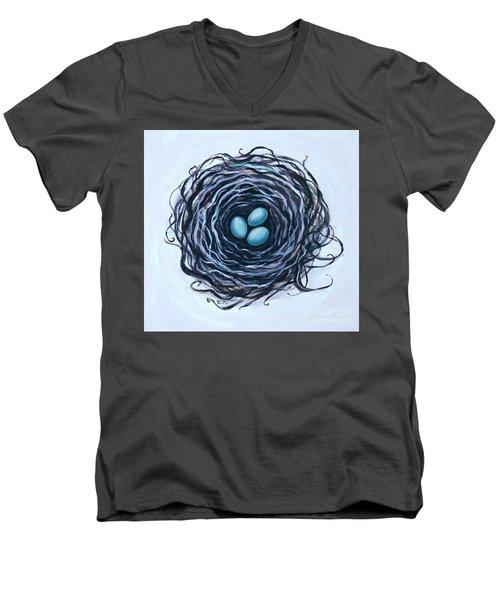 Bird Nest And Eggs Men's V-Neck T-Shirt