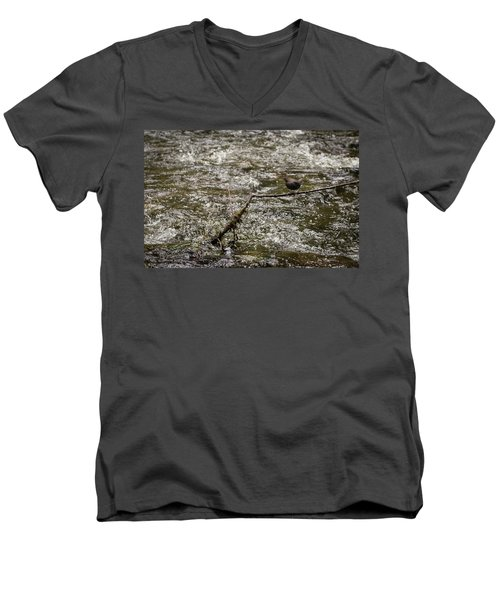 Bird On A River Men's V-Neck T-Shirt