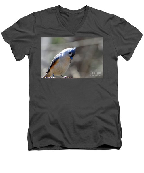 Men's V-Neck T-Shirt featuring the photograph Bird Photography Series Nmb 7 by Elizabeth Coats